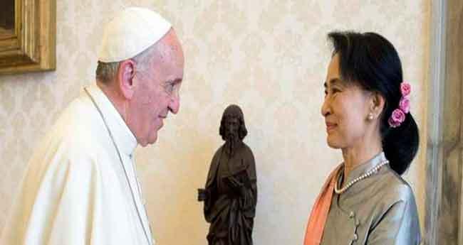 El papa Francesc rep Aung San Suu Kyi